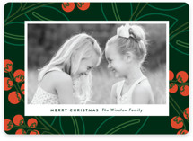 This is a green holiday photo card by Genna Cowsert called Modernism with standard printing on smooth signature in standard.
