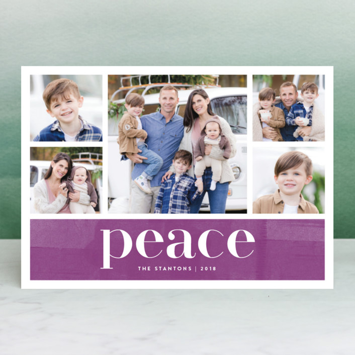 """""""Bright Merry"""" - Holiday Photo Cards in Berry by Kelly Nasuta."""