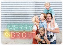 This is a green holiday photo card by Simona Camp called Bright Lights with standard printing on smooth signature in standard.