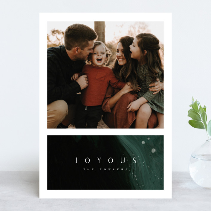 """""""Evergreen Joy"""" - Holiday Photo Cards in Evergreen by Leah Bisch."""