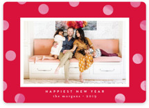 This is a red holiday photo card by Kristie Kern called Statement Dots with standard printing on smooth signature in standard.