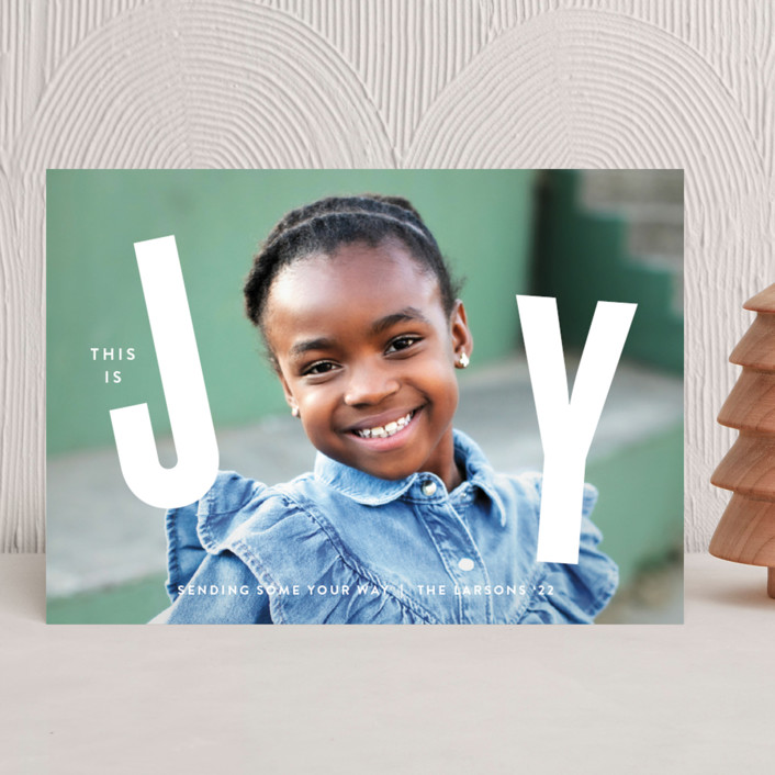 """""""THIS"""" - Holiday Photo Cards in Snow by Lauren Chism."""