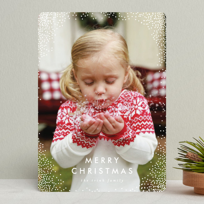 """""""Flurry"""" - Holiday Photo Cards in Snow by AK Graphics."""