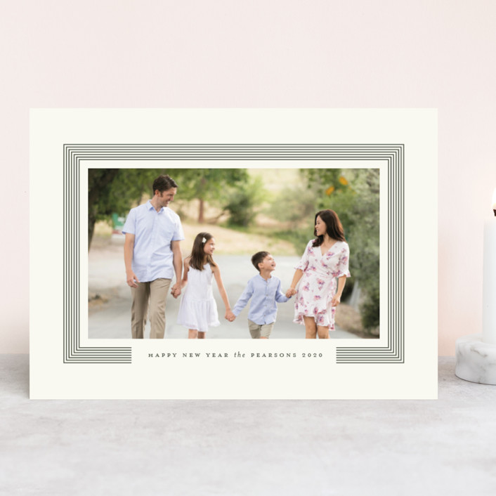 """Posh"" - Holiday Photo Cards in Pine Needle by Roxy Cervantes."
