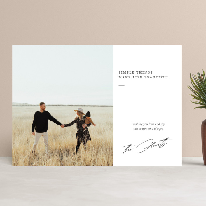 """life is beautiful"" - Holiday Photo Cards in Winter by Eric Clegg."