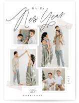 This is a grey holiday photo card by Everett Paper Goods called Moodboard with standard printing on smooth signature in standard.