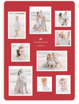This is a red holiday photo card by Hooray Creative called Modern Snapshots with standard printing on smooth signature in standard.