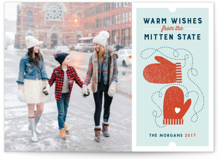Mitten State Holiday Photo Cards