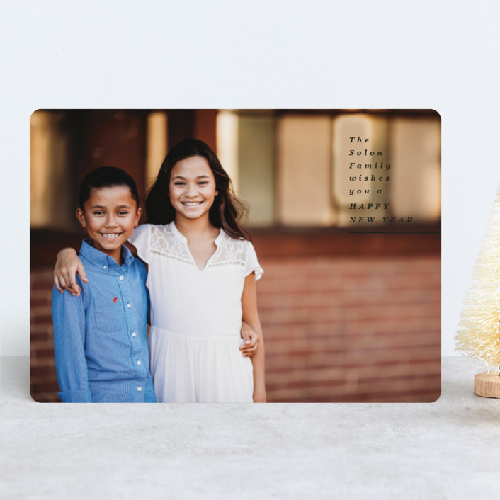 """Sending Holiday Wishes"" - Holiday Photo Cards in Onyx by Owl and Toad."