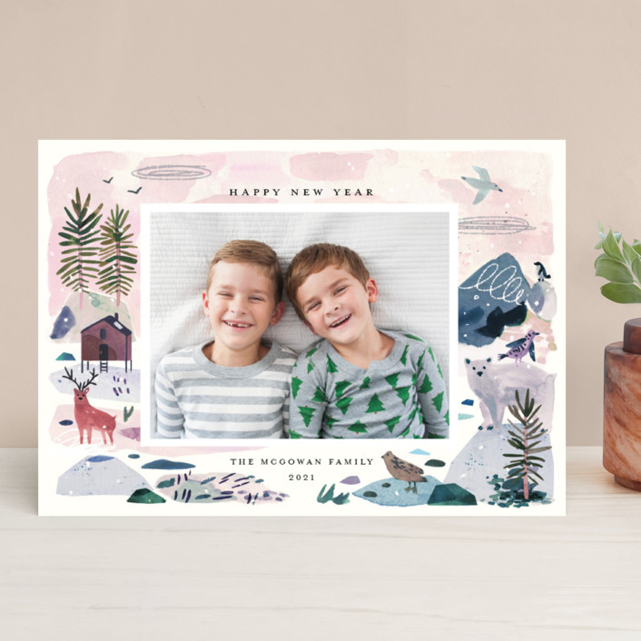 """Winter Ice"" - Bohemian Holiday Photo Cards in Jewel by Morgan Ramberg."