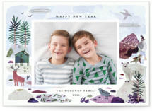 This is a colorful holiday photo card by Morgan Ramberg called Winter Ice with standard printing on smooth signature in standard.