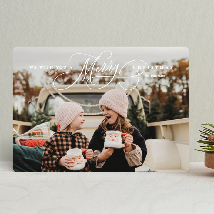 """Jubilantly"" - Holiday Photo Cards in Snow by Lauren Chism."