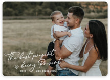 This is a white holiday photo card by Paper Raven Co. called Being Present with standard printing on smooth signature in standard.