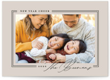 This is a brown holiday photo card by Rebecca Durflinger called styled frame with standard printing on smooth signature in standard.