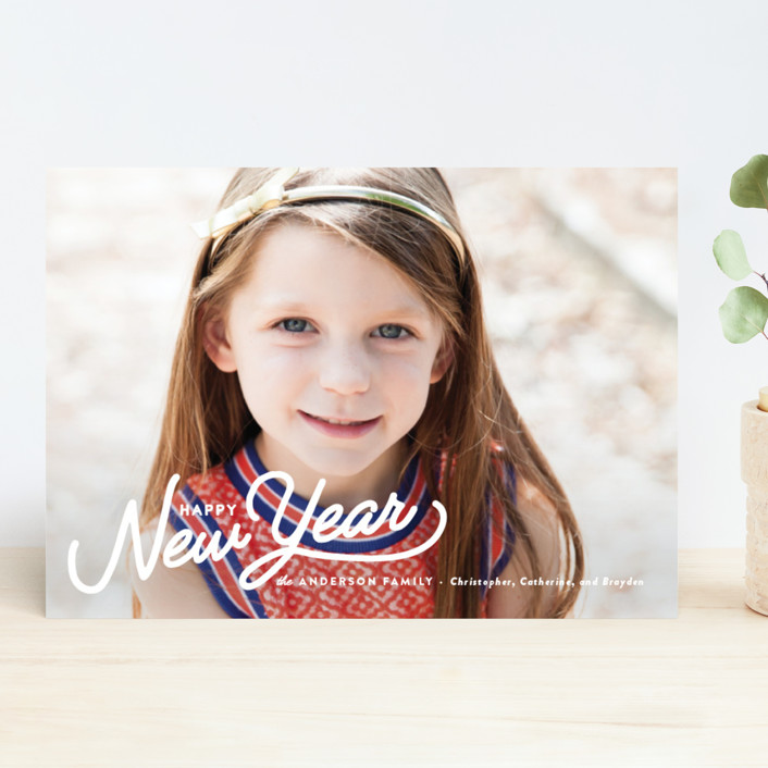 """""""Vintage Christmas Script"""" - Holiday Photo Cards in Snow by Pistols."""