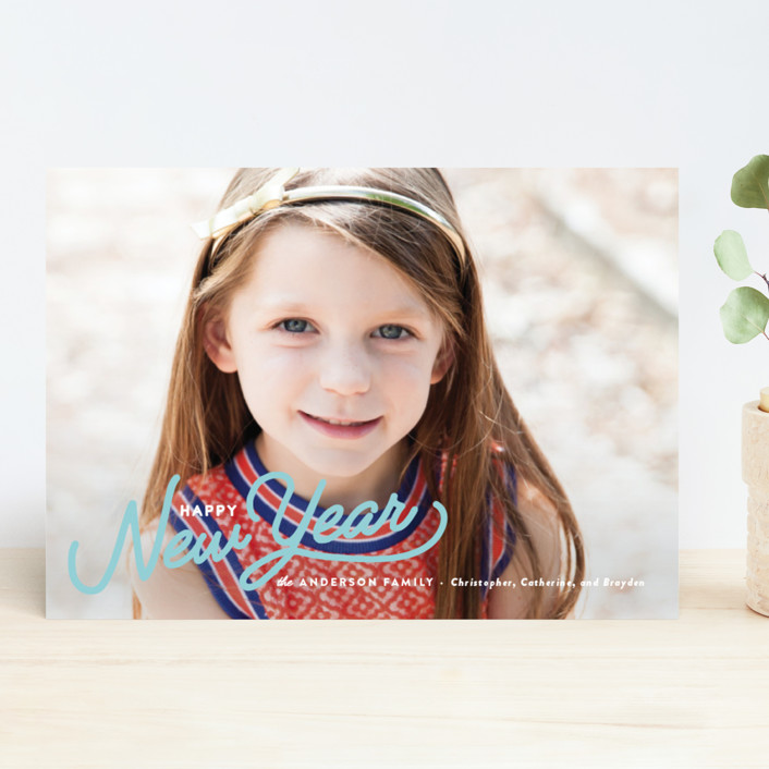 """""""Vintage Christmas Script"""" - Holiday Photo Cards in Berry by Pistols."""