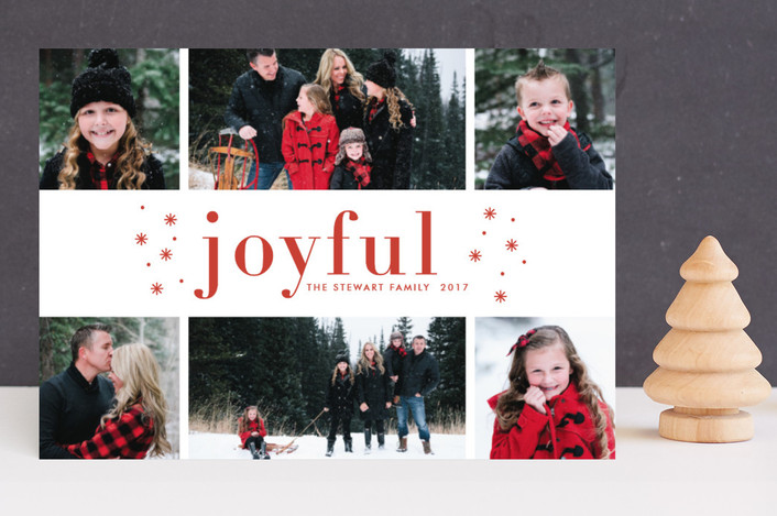 """So Merry"" - Holiday Photo Cards in Berry by Bethan."