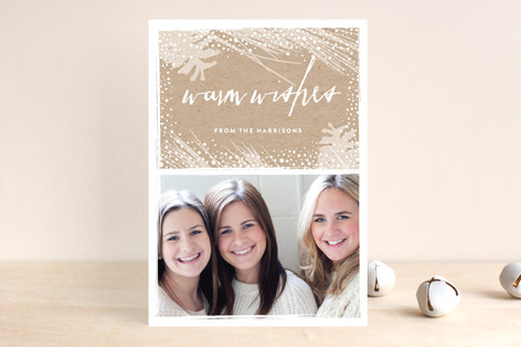Cozy Snow Holiday Photo Cards