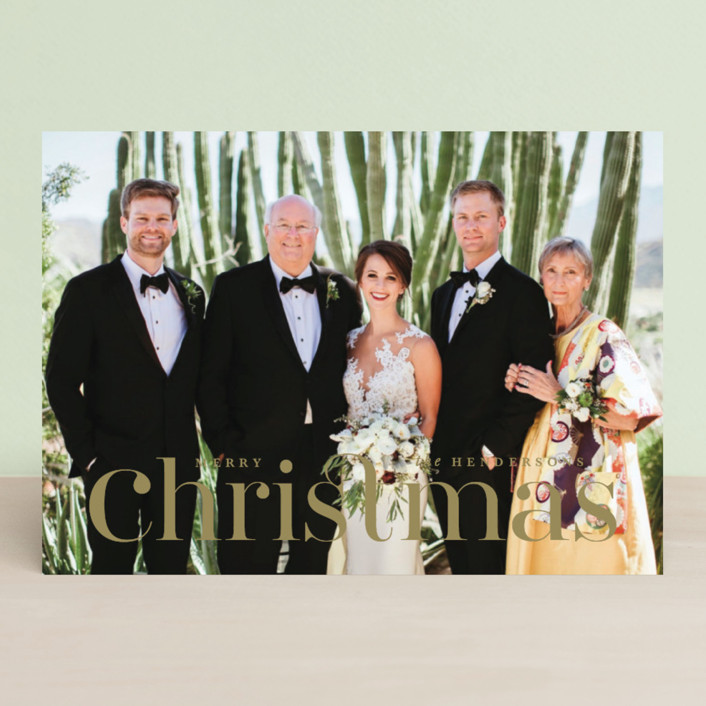 """""""Connect"""" - Holiday Photo Cards in Snow by Lauren Chism."""