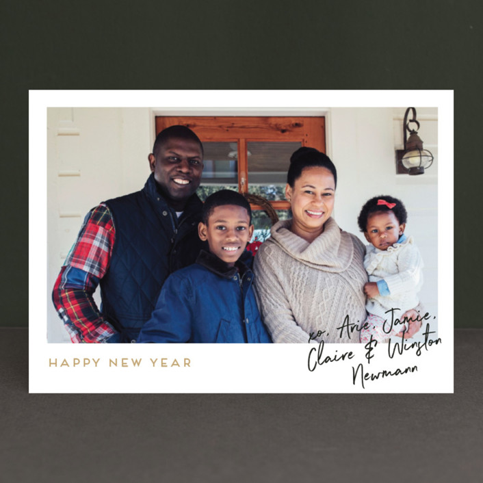 """Our Signature"" - Holiday Photo Cards in Toffee by Kaydi Bishop."