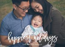 Fun Holiday Script Holiday Photo Cards By Hooray Creative
