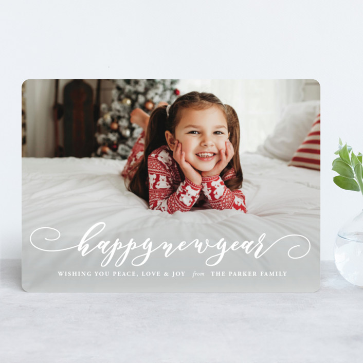 """Holiday Spirit"" - Holiday Photo Cards in Snow by Coco and Ellie Design."
