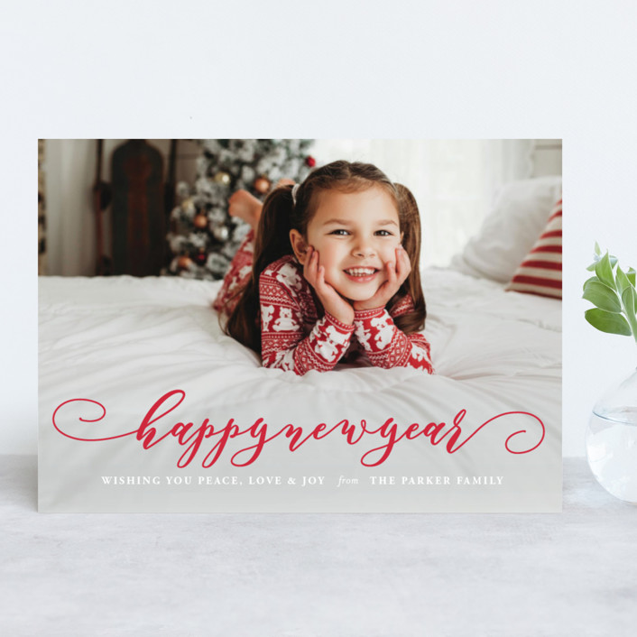 """""""Holiday Spirit"""" - Holiday Photo Cards in Snow by Coco and Ellie Design."""