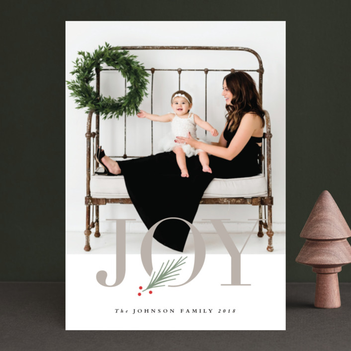 """""""J O Y"""" - Holiday Photo Cards in Winter by Stacey Meacham."""
