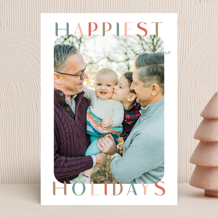 """""""Round and Round"""" - Holiday Photo Cards in Antique by Lauren Chism."""