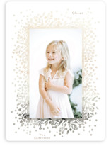 This is a brown holiday photo card by Phrosne Ras called ombre berries with standard printing on smooth signature in standard.