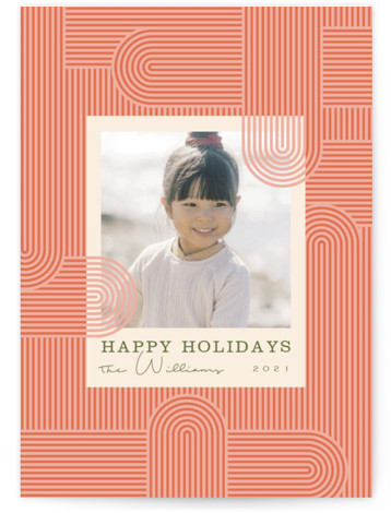 Lined Path Holiday Photo Cards