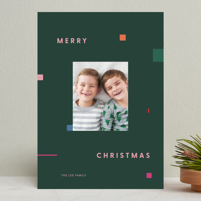 """Symphony"" - Modern Holiday Photo Cards in Pine by Meg Gleason."