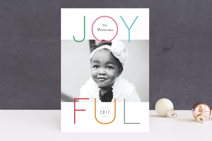 """Colorful joy"" - Holiday Photo Cards in Gumdrops by Jennifer Wick."