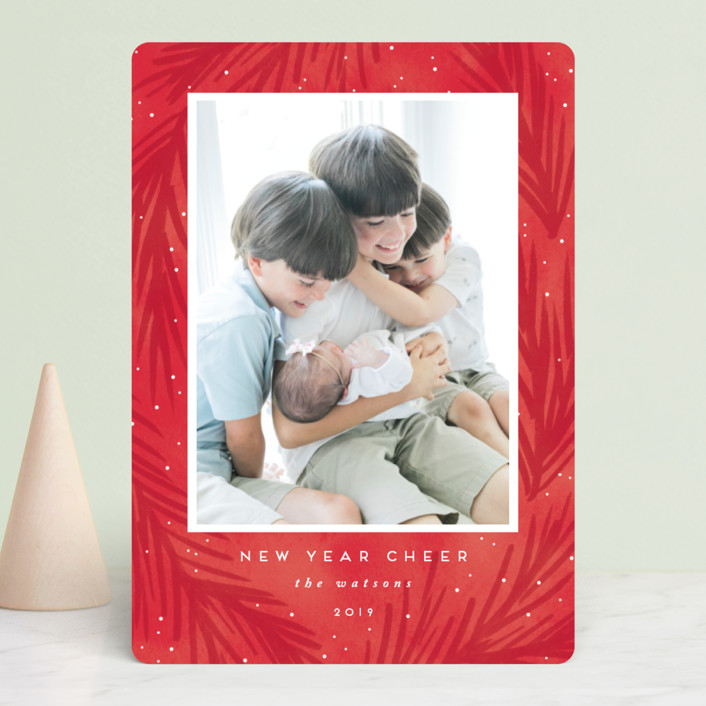 """""""tidings of love"""" - Bohemian Holiday Photo Cards in Royal by Angela Garrick."""