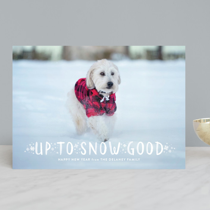 """""""Snow Good"""" - Funny Holiday Photo Cards in Snow by Sarah Guse Brown."""