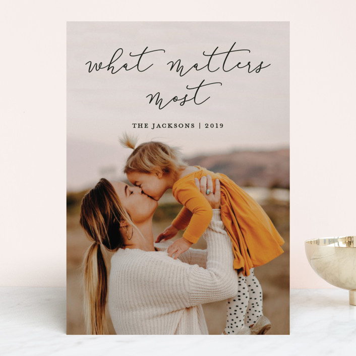 """What Matters Most"" - Holiday Photo Cards in Holly by annie clark."
