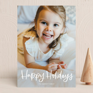 Modern Merry Greeting Holiday Photo Cards