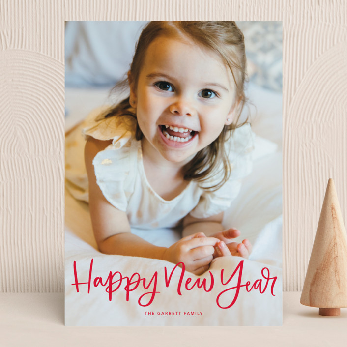 """""""Modern Merry Greeting"""" - Holiday Photo Cards in Apple by Kristen Smith."""