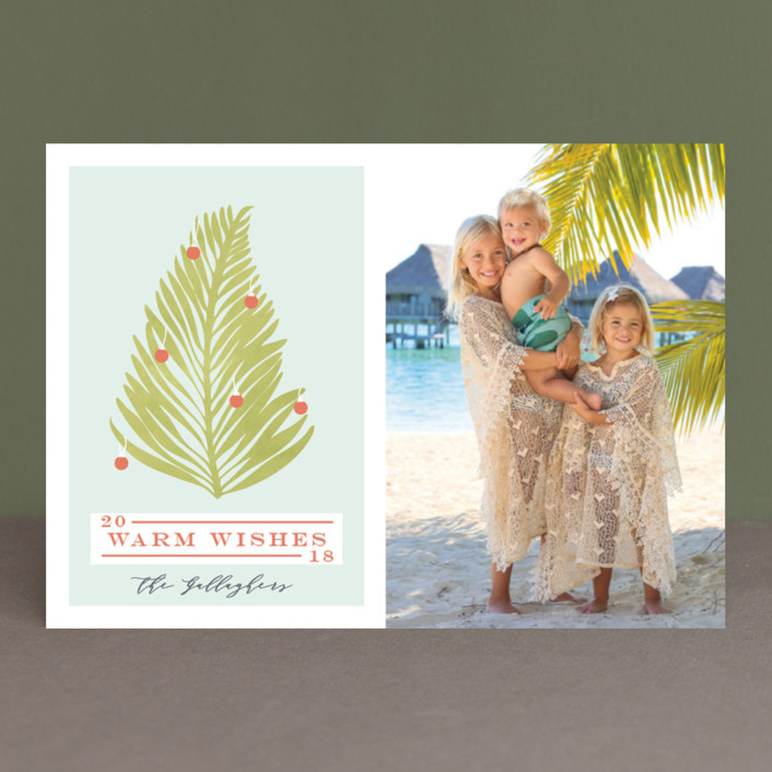"""""""Tropical Tree"""" - Holiday Photo Cards in Palm Tree by Gwen Bedat."""