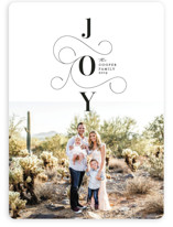 This is a black holiday photo card by Erica Krystek called Embellished Joy with standard printing on smooth signature in standard.