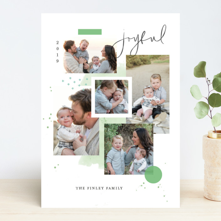 """""""Holiday Mood Board"""" - Holiday Photo Cards in Sage by Kristen Smith."""