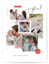 This is a red holiday photo card by Kristen Smith called Holiday Mood Board with standard printing on smooth signature in standard.