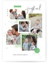 This is a green holiday photo card by Kristen Smith called Holiday Mood Board with standard printing on smooth signature in standard.