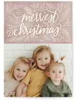 This is a brown holiday photo card by Cindy Reynolds called Soft Sentiment with standard printing on smooth signature in standard.