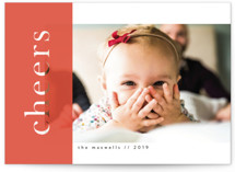 This is a red holiday photo card by Catherine Culvenor called Translucent Ribbon with standard printing on smooth signature in standard.