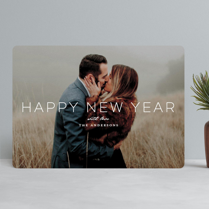 """""""Holiday Loves"""" - Holiday Photo Cards in Snow by Little Print Design."""