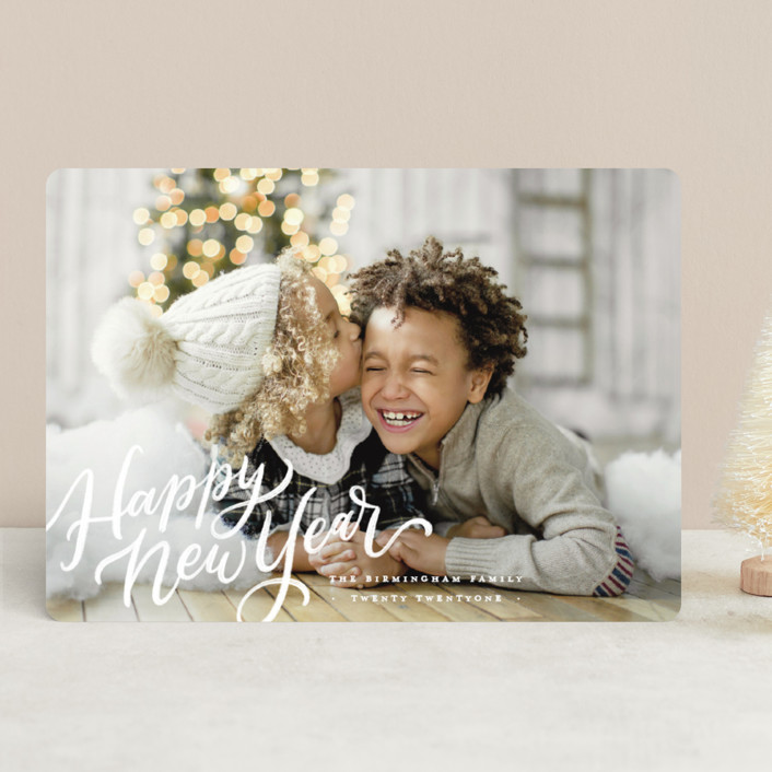 """Absolutely Wonderful"" - Holiday Photo Cards in Snow by Wildfield Paper Co."