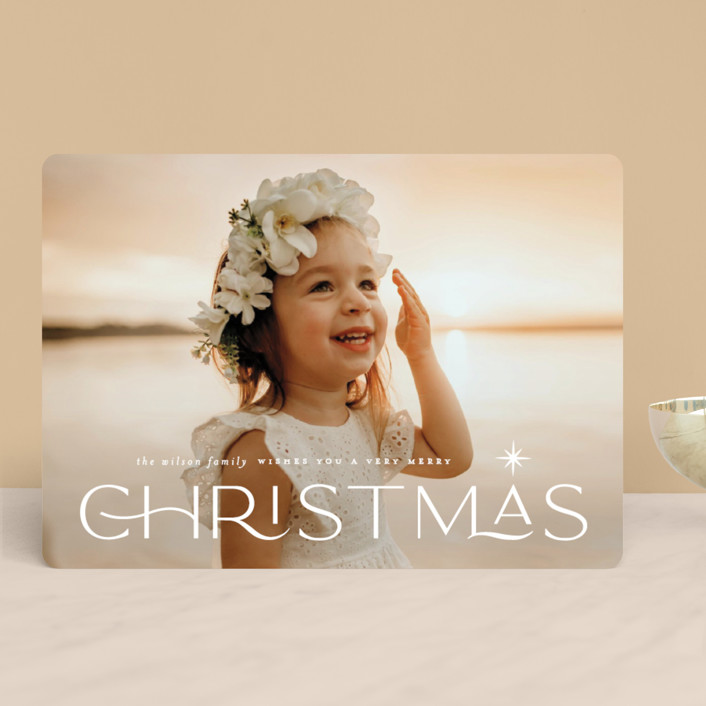 """""""Star light"""" - Vintage Holiday Photo Cards in Snow by Lauren Chism."""