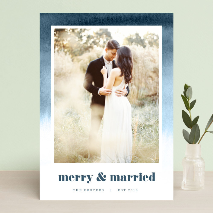 """""""Established in Color"""" - Bohemian Holiday Photo Cards in Tan by Pixel and Hank."""