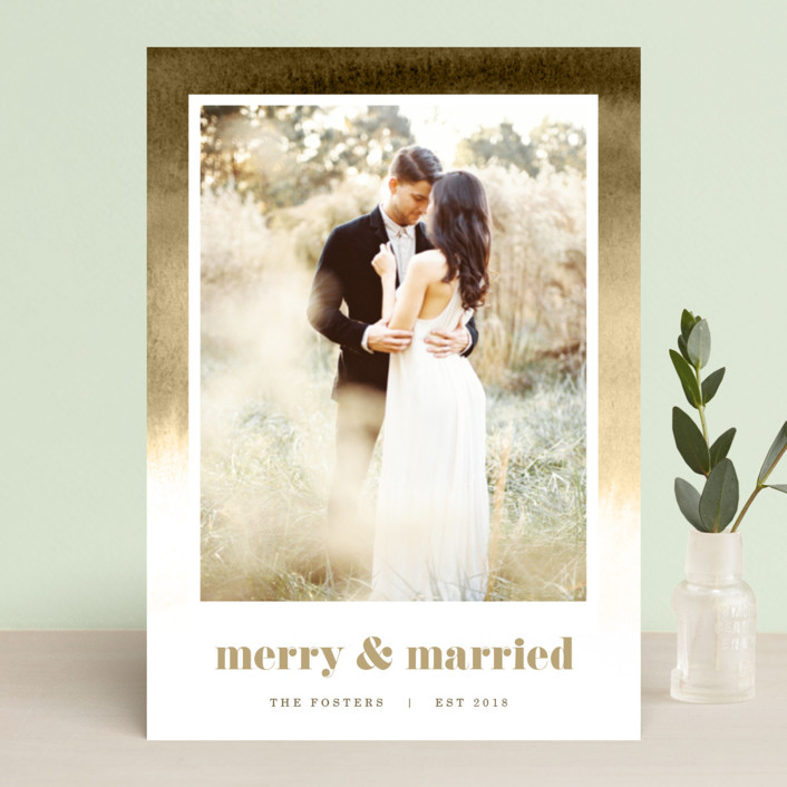 """Established in Color"" - Bohemian Holiday Photo Cards in Evergreen by Pixel and Hank."